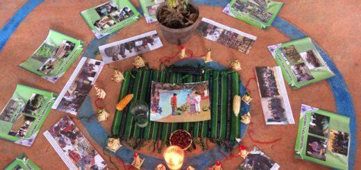 cercle avec photos et bougies